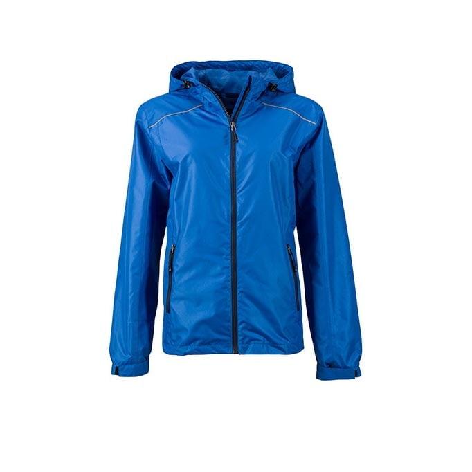 Kurtki - Ladies` Rain Jacket - JN1117 - Royal - RAVEN - koszulki reklamowe z nadrukiem, odzież reklamowa i gastronomiczna