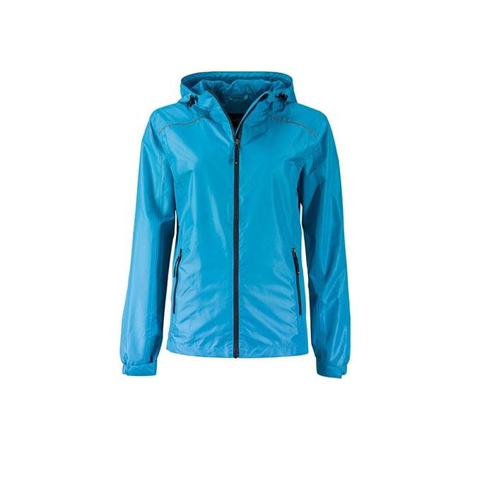Kurtki - Ladies` Rain Jacket - JN1117 - Turquoise - RAVEN - koszulki reklamowe z nadrukiem, odzież reklamowa i gastronomiczna