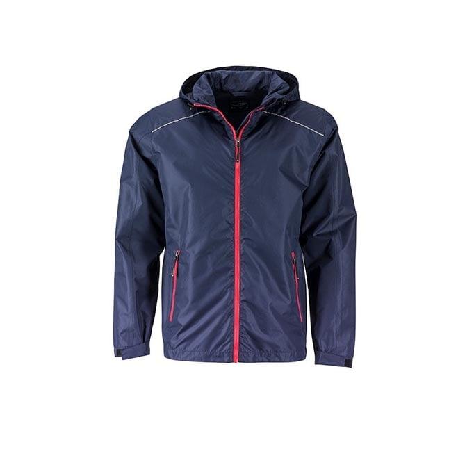 Kurtki - Mens` Rain Jacket -  JN1118 - Navy - RAVEN - koszulki reklamowe z nadrukiem, odzież reklamowa i gastronomiczna