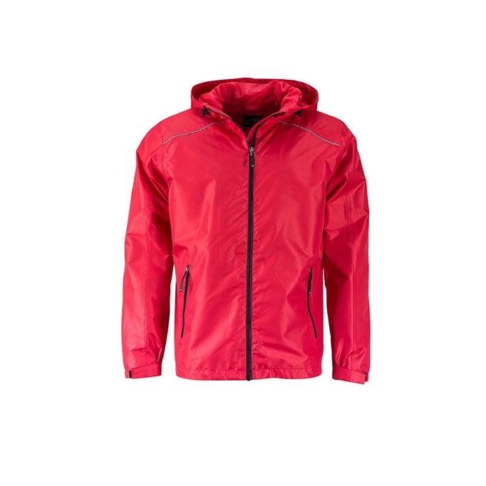 Kurtki - Mens` Rain Jacket -  JN1118 - Red - RAVEN - koszulki reklamowe z nadrukiem, odzież reklamowa i gastronomiczna