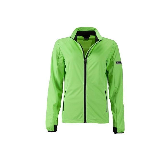 Kurtki - Ladies` Sports Softshell Jacket - JN1125 - Bright Green - RAVEN - koszulki reklamowe z nadrukiem, odzież reklamowa i gastronomiczna