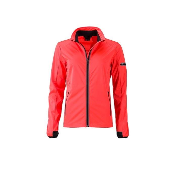 Kurtki - Ladies` Sports Softshell Jacket - JN1125 - Bright Orange - RAVEN - koszulki reklamowe z nadrukiem, odzież reklamowa i gastronomiczna