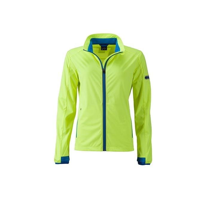 Kurtki - Ladies` Sports Softshell Jacket - JN1125 - Bright Yellow - RAVEN - koszulki reklamowe z nadrukiem, odzież reklamowa i gastronomiczna