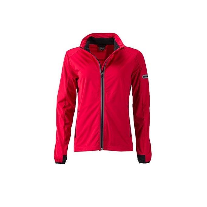 Kurtki - Ladies` Sports Softshell Jacket - JN1125 - Light Red - RAVEN - koszulki reklamowe z nadrukiem, odzież reklamowa i gastronomiczna