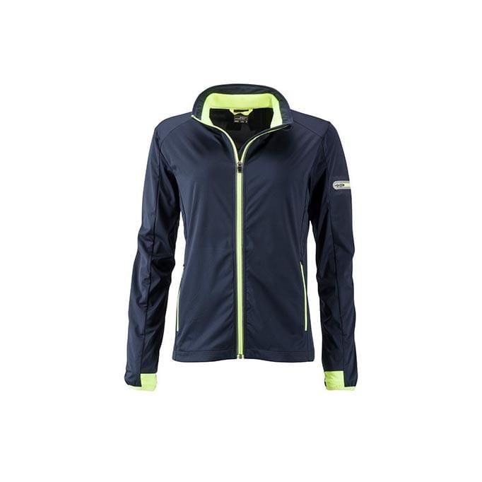 Kurtki - Ladies` Sports Softshell Jacket - JN1125 - Navy - RAVEN - koszulki reklamowe z nadrukiem, odzież reklamowa i gastronomiczna