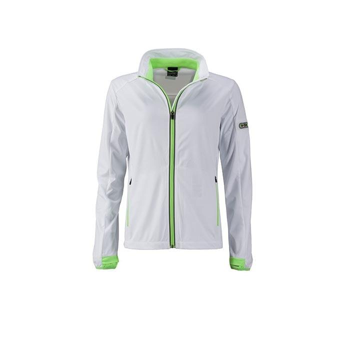 Kurtki - Ladies` Sports Softshell Jacket - JN1125 - White - RAVEN - koszulki reklamowe z nadrukiem, odzież reklamowa i gastronomiczna