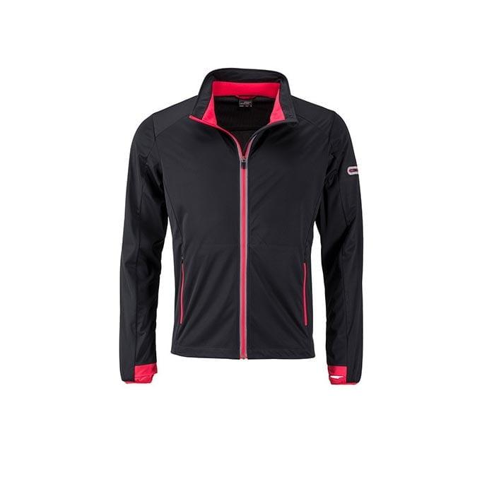 Kurtki - Men`s Sports Softshell Jacket - JN1126 - Black - RAVEN - koszulki reklamowe z nadrukiem, odzież reklamowa i gastronomiczna