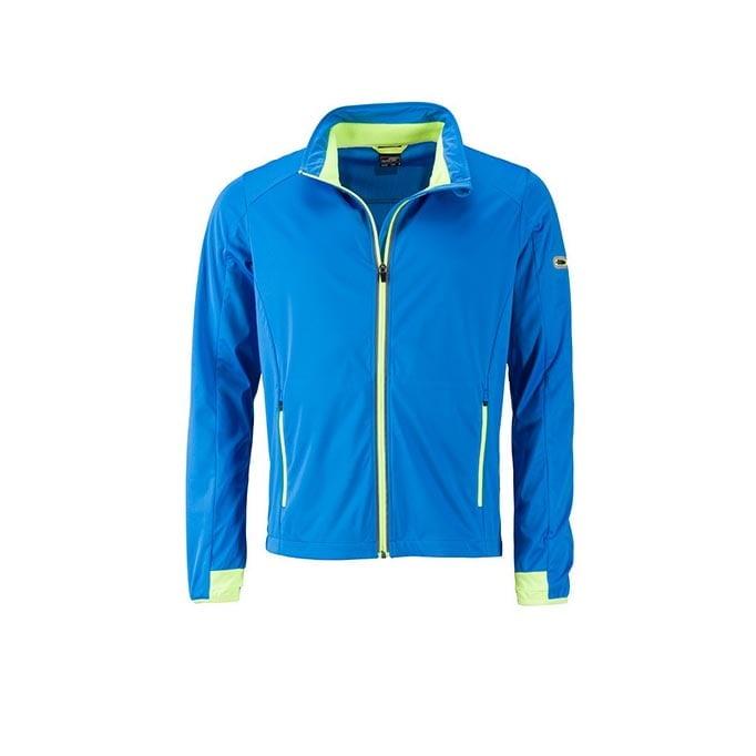 Kurtki - Men`s Sports Softshell Jacket - JN1126 - Bright Blue - RAVEN - koszulki reklamowe z nadrukiem, odzież reklamowa i gastronomiczna