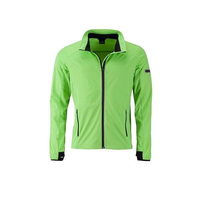 Kurtki - Men`s Sports Softshell Jacket - JN1126 - Bright Green - RAVEN - koszulki reklamowe z nadrukiem, odzież reklamowa i gastronomiczna