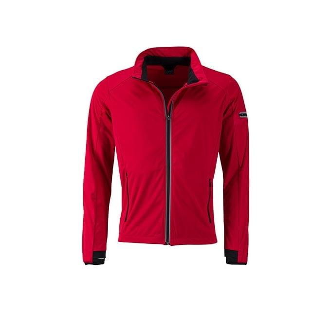 Kurtki - Men`s Sports Softshell Jacket - JN1126 - Light Red - RAVEN - koszulki reklamowe z nadrukiem, odzież reklamowa i gastronomiczna