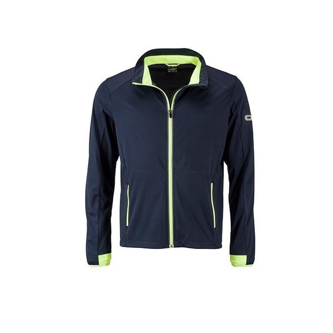 Kurtki - Men`s Sports Softshell Jacket - JN1126 - Navy - RAVEN - koszulki reklamowe z nadrukiem, odzież reklamowa i gastronomiczna