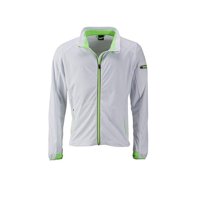 Kurtki - Men`s Sports Softshell Jacket - JN1126 - White - RAVEN - koszulki reklamowe z nadrukiem, odzież reklamowa i gastronomiczna