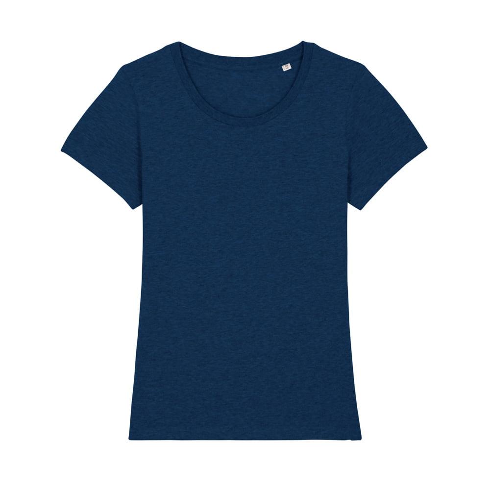 Koszulki T-Shirt - Damski T-shirt Stella Expresser - STTW032 - Black Heather Blue - RAVEN - koszulki reklamowe z nadrukiem, odzież reklamowa i gastronomiczna