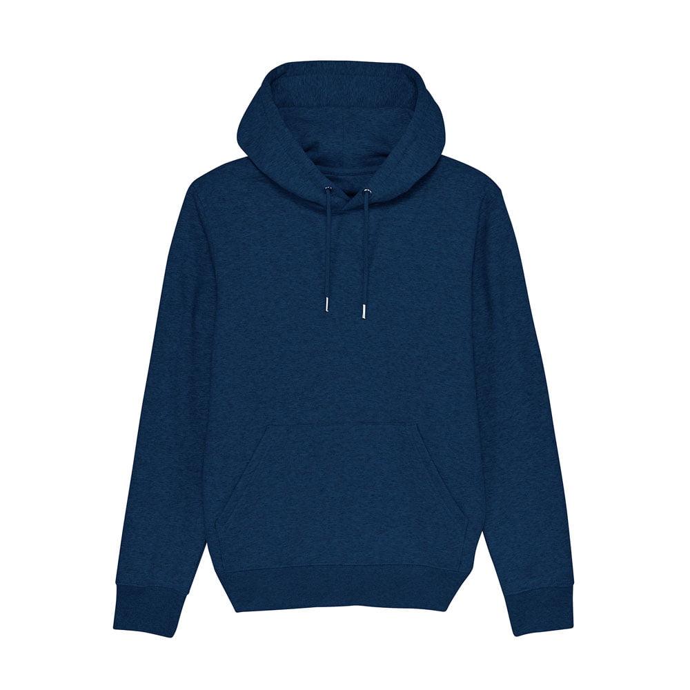 Bluzy - Bluza Unisex z Kapturem Cruiser - STSU822 - Black Heather Blue - RAVEN - koszulki reklamowe z nadrukiem, odzież reklamowa i gastronomiczna