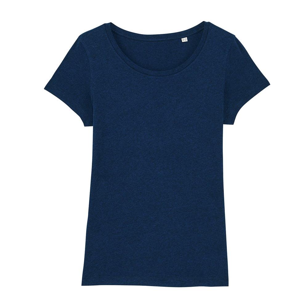 Koszulki T-Shirt - Damski T-shirt Stella Lover - STTW017 - Black Heather Blue - RAVEN - koszulki reklamowe z nadrukiem, odzież reklamowa i gastronomiczna
