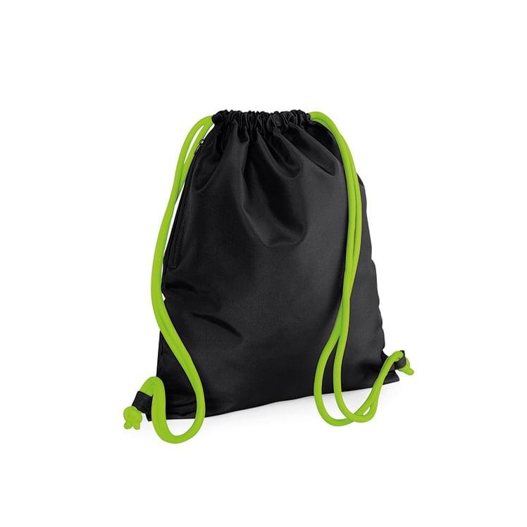 Torby i plecaki - Icon Gymsac - BG110 - Black/Lime Green - RAVEN - koszulki reklamowe z nadrukiem, odzież reklamowa i gastronomiczna