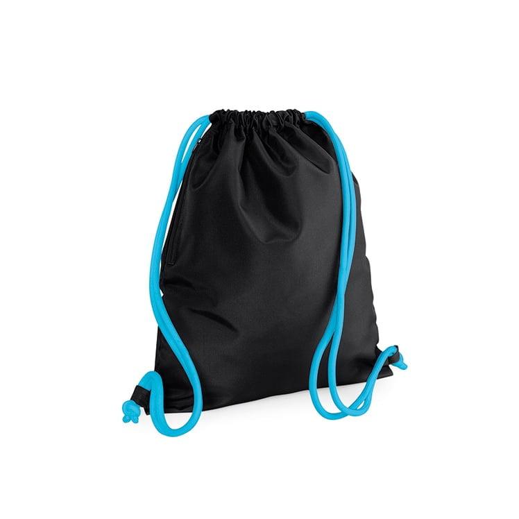 Torby i plecaki - Icon Gymsac - BG110 - Black/Surf Blue - RAVEN - koszulki reklamowe z nadrukiem, odzież reklamowa i gastronomiczna