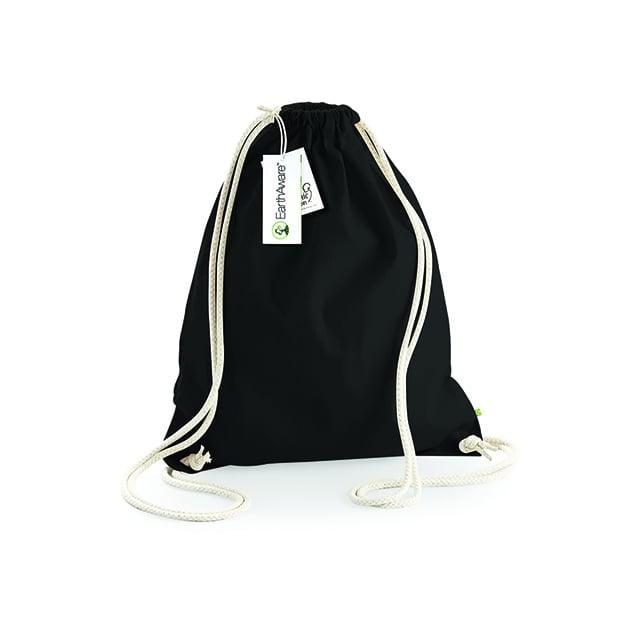 Torby i plecaki - EarthAware™ Organic Gymsac - W810 - Black - RAVEN - koszulki reklamowe z nadrukiem, odzież reklamowa i gastronomiczna