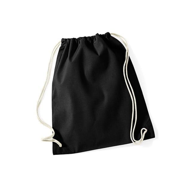 Torby i plecaki - Worek festiwalowy Cotton Gym - W110 - Black - RAVEN - koszulki reklamowe z nadrukiem, odzież reklamowa i gastronomiczna