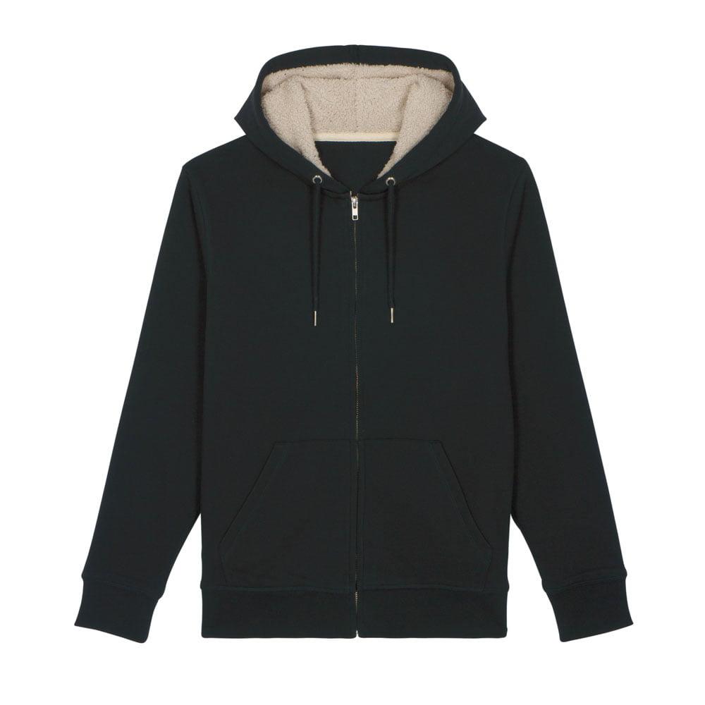 Bluzy - Bluza Unisex z Kapturem Warmer Sherpa - STSU715 - Black - RAVEN - koszulki reklamowe z nadrukiem, odzież reklamowa i gastronomiczna