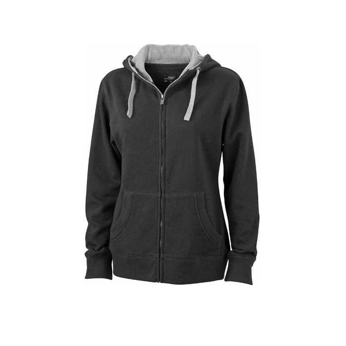 Bluzy - Damska bluza Lifestyle - James & Nicholson JN962 - Black - RAVEN - koszulki reklamowe z nadrukiem, odzież reklamowa i gastronomiczna
