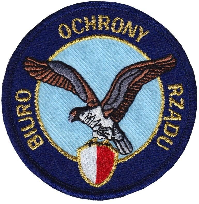 Biuro Ochrony Rządu - logo haftowane - producent RAVEN