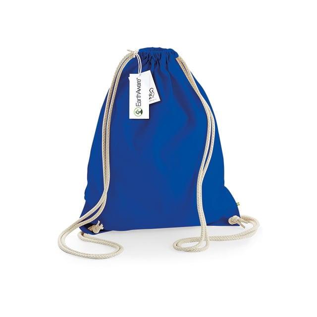 Torby i plecaki - EarthAware™ Organic Gymsac - W810 - Bright Royal - RAVEN - koszulki reklamowe z nadrukiem, odzież reklamowa i gastronomiczna