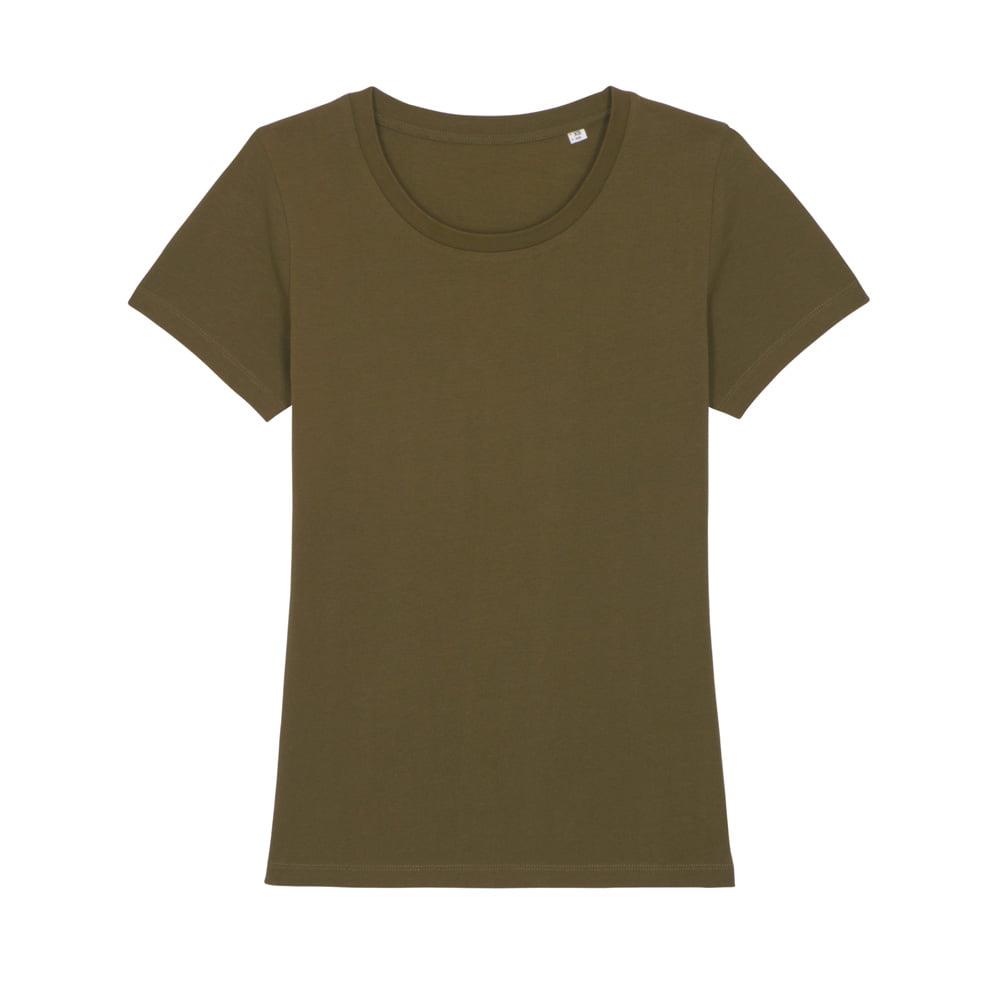 Koszulki T-Shirt - Damski T-shirt Stella Expresser - STTW032 - British Khaki - RAVEN - koszulki reklamowe z nadrukiem, odzież reklamowa i gastronomiczna