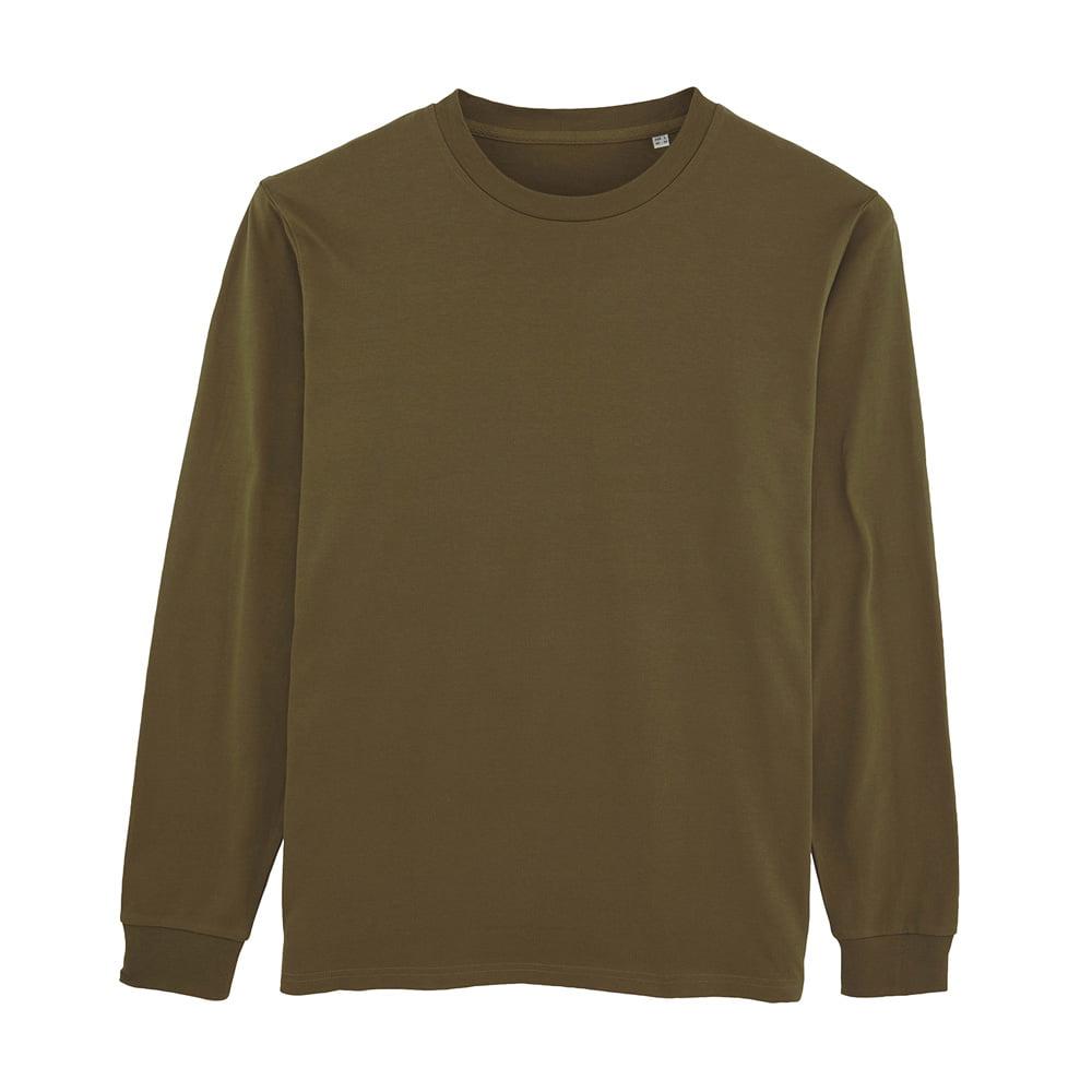 Koszulki T-Shirt - Męski Longsleeve Stanley Shifts Dry - STTM558 - British Khaki - RAVEN - koszulki reklamowe z nadrukiem, odzież reklamowa i gastronomiczna
