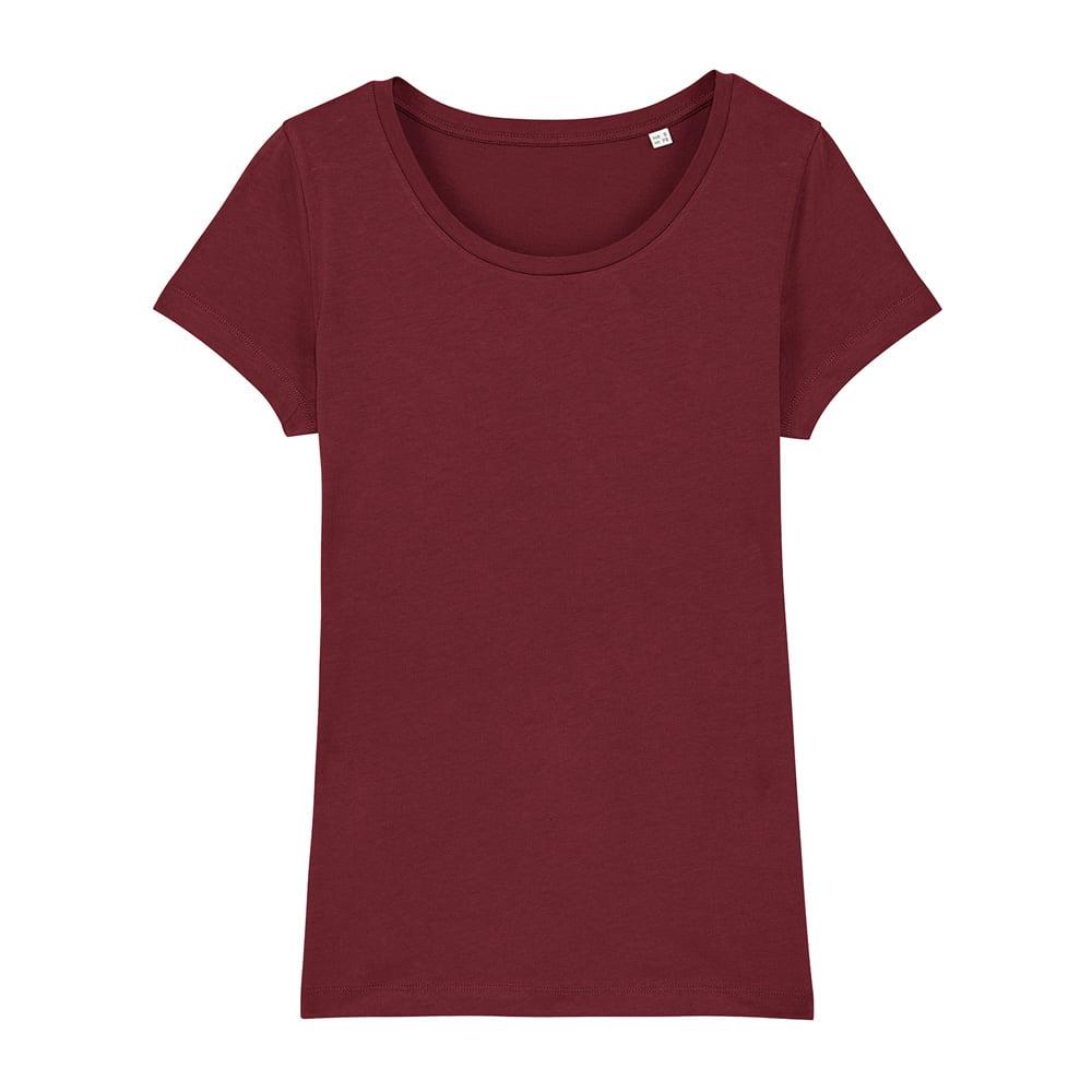 Koszulki T-Shirt - Damski T-shirt Stella Lover - STTW017 - Burgundy - RAVEN - koszulki reklamowe z nadrukiem, odzież reklamowa i gastronomiczna