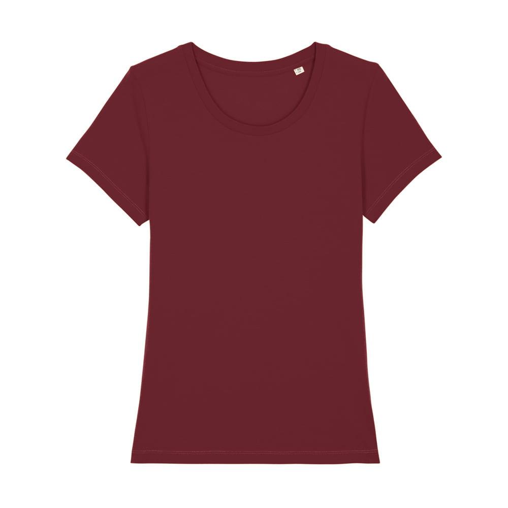 Koszulki T-Shirt - Damski T-shirt Stella Expresser - STTW032 - Burgundy - RAVEN - koszulki reklamowe z nadrukiem, odzież reklamowa i gastronomiczna