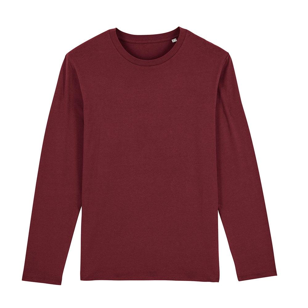 Koszulki T-Shirt - Męski Longsleeve Stanley Shuffler - STTM560 - Burgundy - RAVEN - koszulki reklamowe z nadrukiem, odzież reklamowa i gastronomiczna