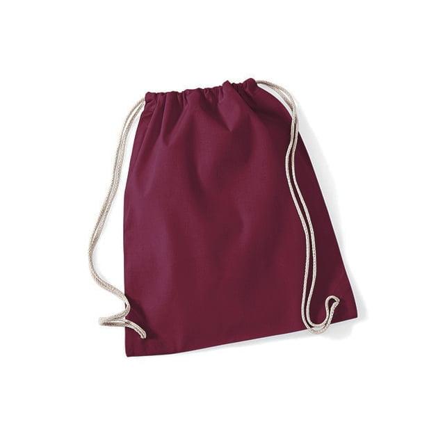 Torby i plecaki - Worek festiwalowy Cotton Gym - W110 - Burgundy - RAVEN - koszulki reklamowe z nadrukiem, odzież reklamowa i gastronomiczna