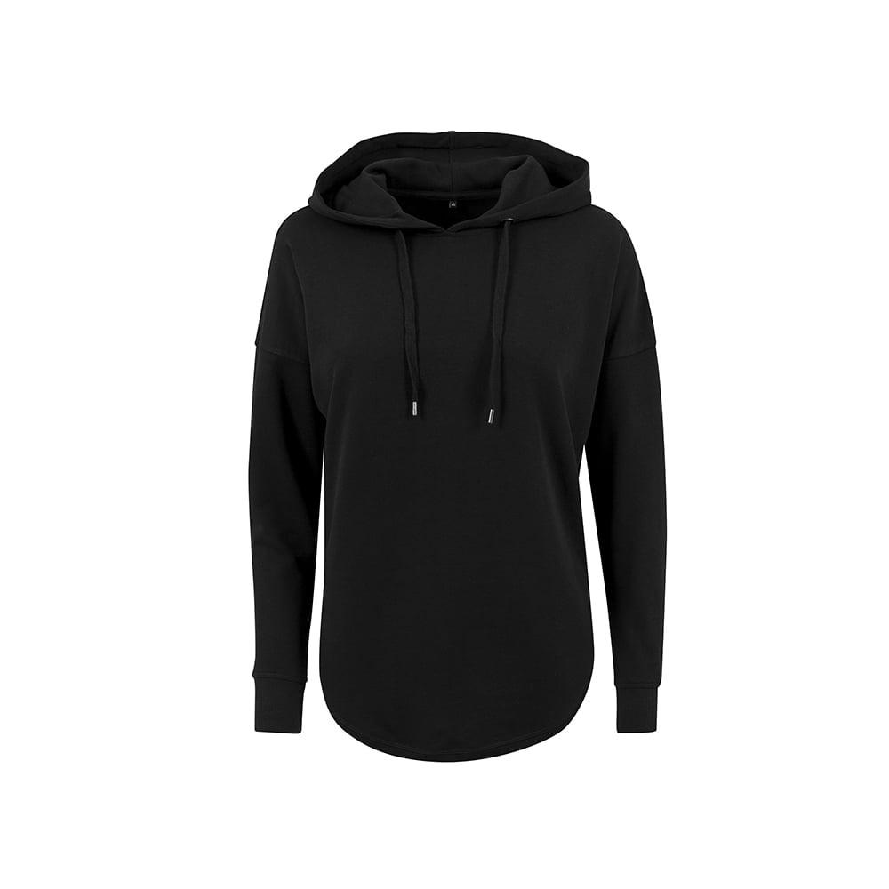 Bluzy - Damska bluza z kapturem Oversized Hoody - Build your Brand BY037 - Black - RAVEN - koszulki reklamowe z nadrukiem, odzież reklamowa i gastronomiczna