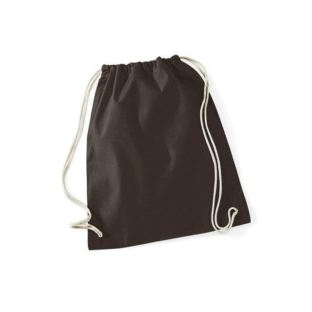 Torby i plecaki - Worek festiwalowy Cotton Gym - W110 - Chocolate - RAVEN - koszulki reklamowe z nadrukiem, odzież reklamowa i gastronomiczna