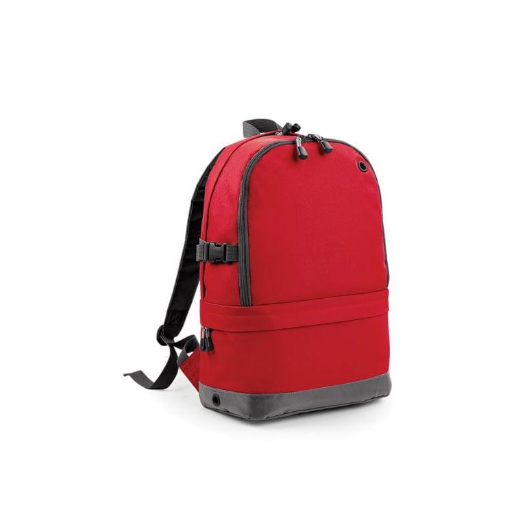 Torby i plecaki - Athleisure Pro Backpack - BG550 - Classic Red - RAVEN - koszulki reklamowe z nadrukiem, odzież reklamowa i gastronomiczna