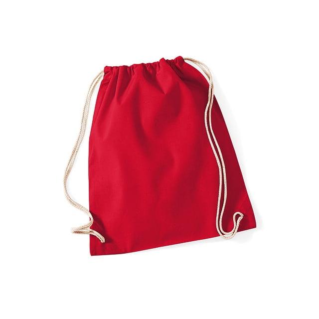 Torby i plecaki - Worek festiwalowy Cotton Gym - W110 - Classic Red - RAVEN - koszulki reklamowe z nadrukiem, odzież reklamowa i gastronomiczna