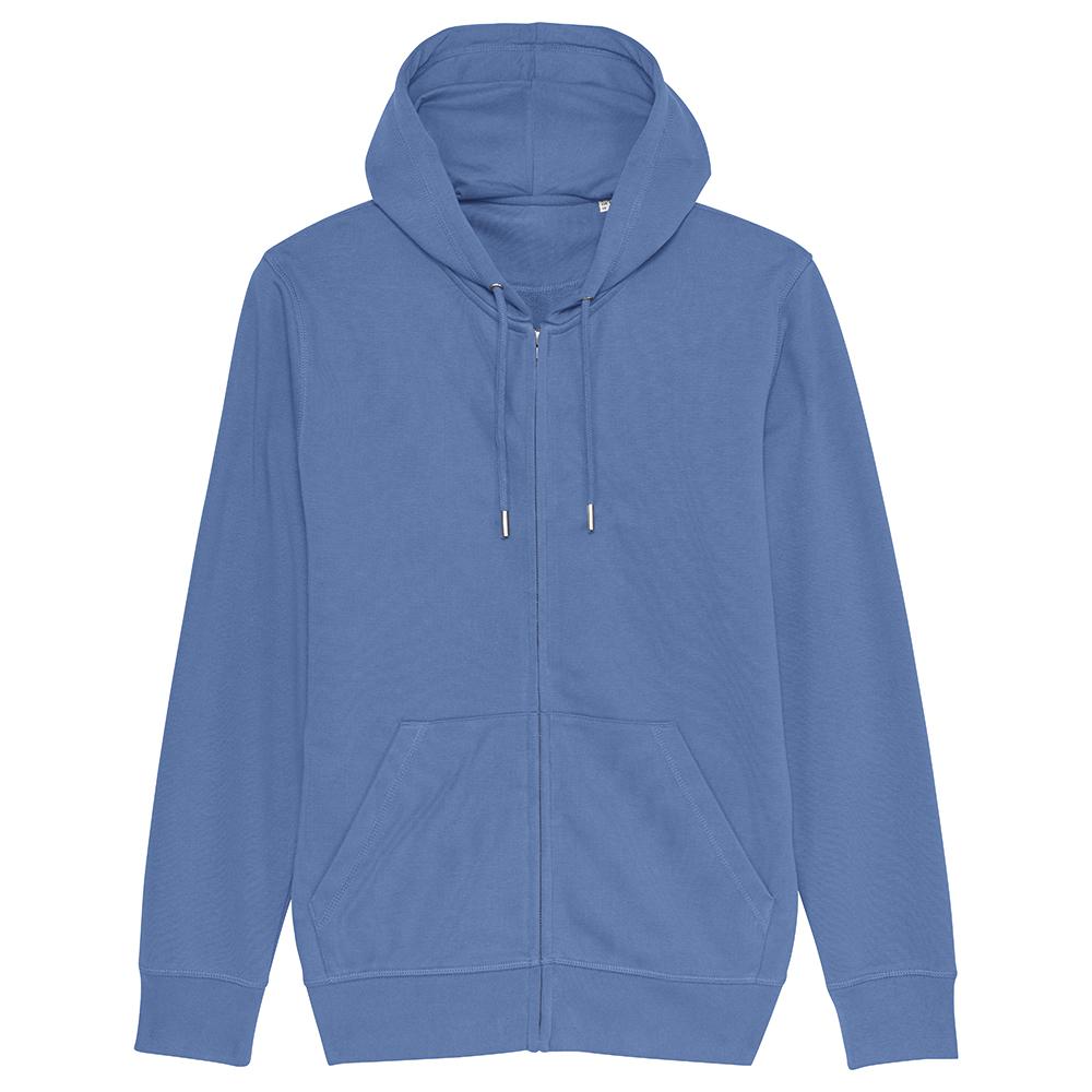 Bluzy - Bluza Unisex z Kapturem Connector - STSU820 - Bright Blue - RAVEN - koszulki reklamowe z nadrukiem, odzież reklamowa i gastronomiczna