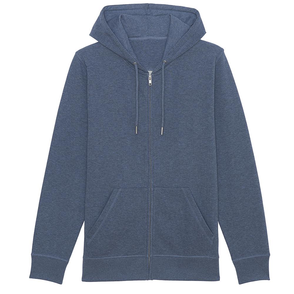 Bluzy - Bluza Unisex z Kapturem Connector - STSU820 - Dark Heather Blue - RAVEN - koszulki reklamowe z nadrukiem, odzież reklamowa i gastronomiczna