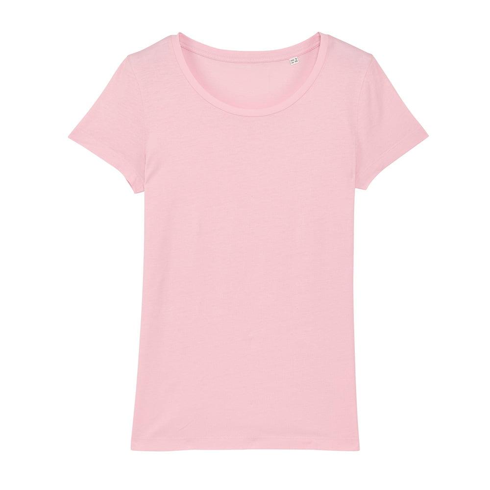 Koszulki T-Shirt - Damski T-shirt Stella Lover - STTW017 - Cotton Pink - RAVEN - koszulki reklamowe z nadrukiem, odzież reklamowa i gastronomiczna