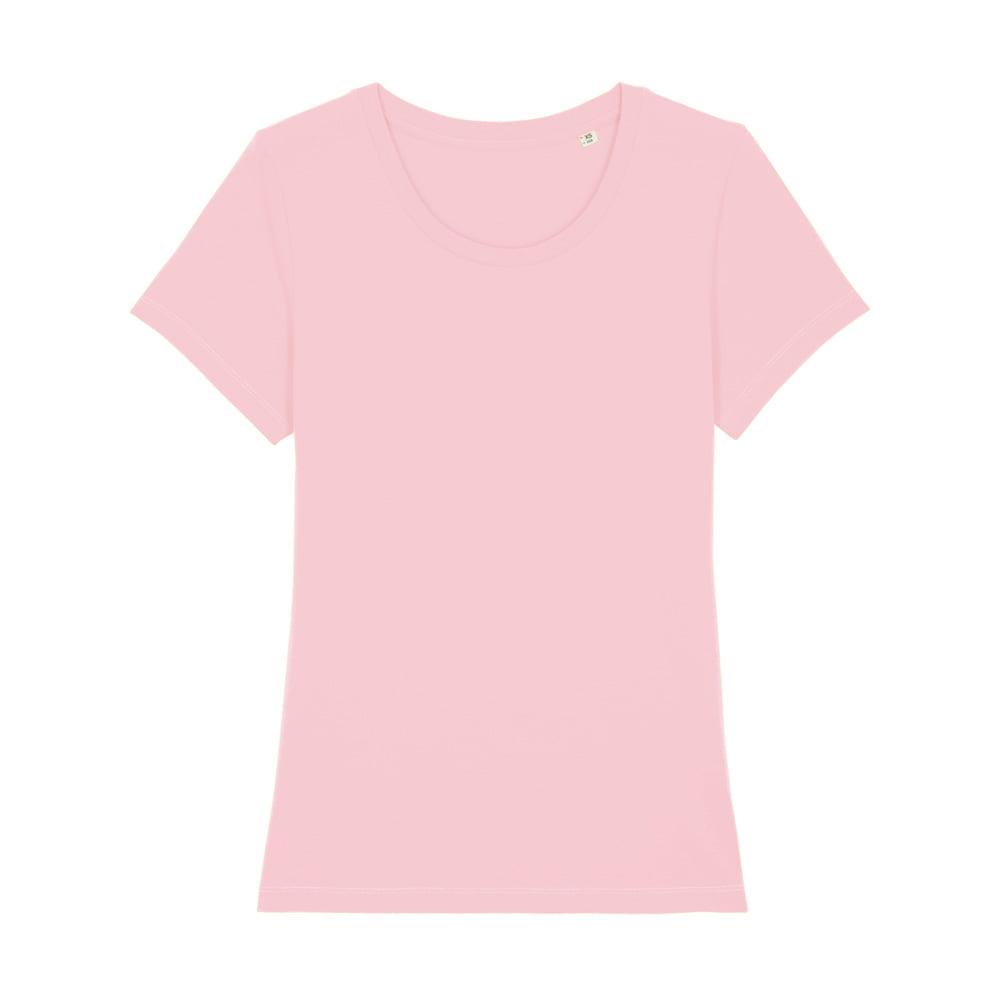 Koszulki T-Shirt - Damski T-shirt Stella Expresser - STTW032 - Cotton Pink - RAVEN - koszulki reklamowe z nadrukiem, odzież reklamowa i gastronomiczna