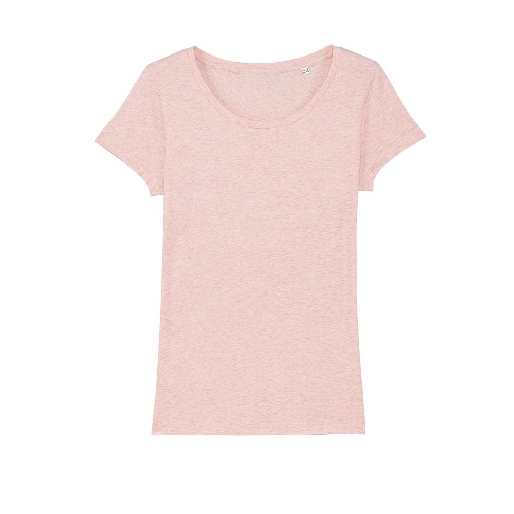 Koszulki T-Shirt - Damski T-shirt Stella Lover - STTW017 - Cream Heather Pink - RAVEN - koszulki reklamowe z nadrukiem, odzież reklamowa i gastronomiczna
