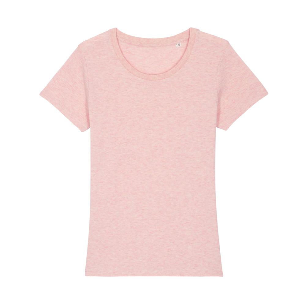 Koszulki T-Shirt - Damski T-shirt Stella Expresser - STTW032 - Cream Heather Pink - RAVEN - koszulki reklamowe z nadrukiem, odzież reklamowa i gastronomiczna