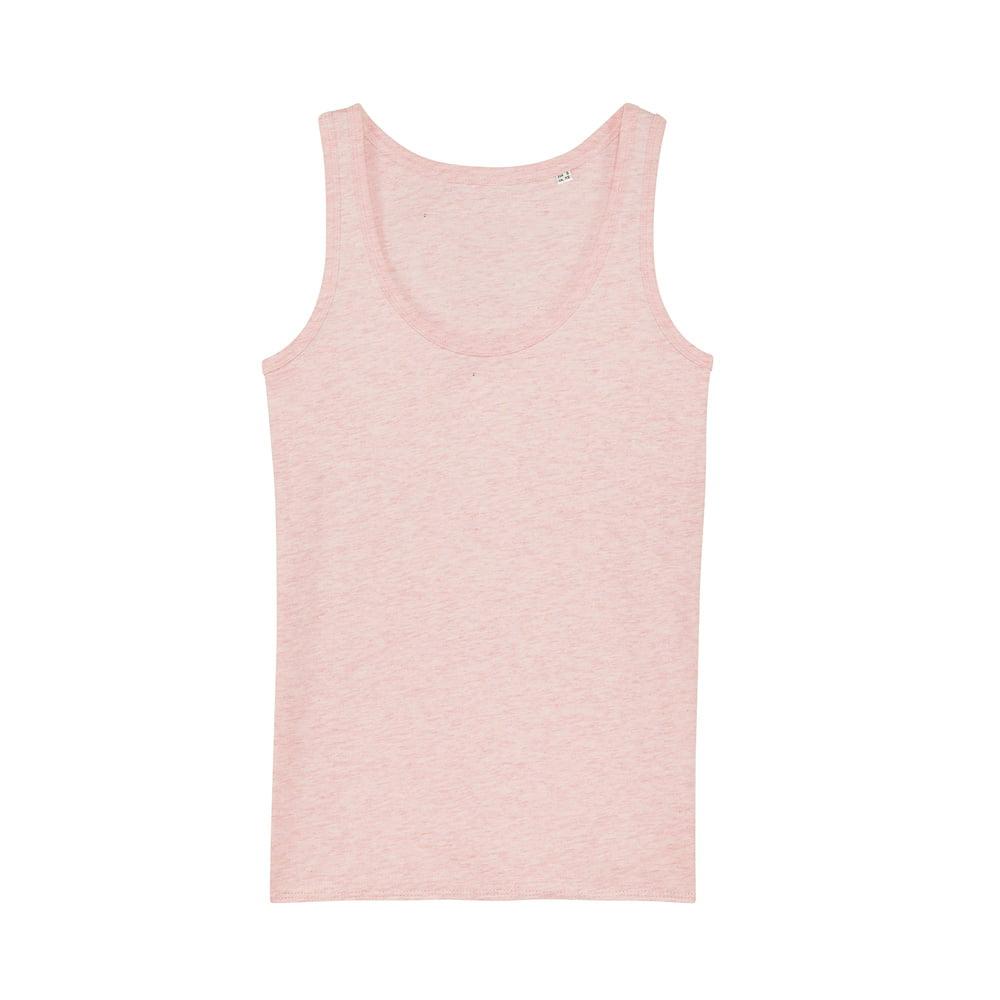 Koszulki T-Shirt - Damski Tank Top Stella Dreamer - STTW013 - Cream Heather Pink - RAVEN - koszulki reklamowe z nadrukiem, odzież reklamowa i gastronomiczna