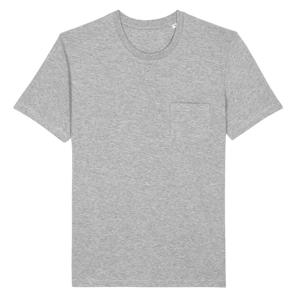 Koszulki T-Shirt - T-shirt unisex Creator Pocket - STTU830 - Heather Grey - RAVEN - koszulki reklamowe z nadrukiem, odzież reklamowa i gastronomiczna