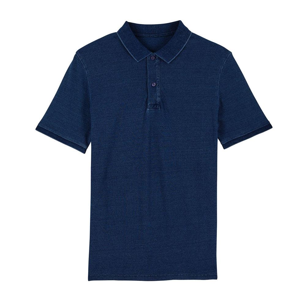 Koszulki Polo - Męska Koszulka Polo Stanley Dedicator Denim - STPM564 - Dark Washed Indigo - RAVEN - koszulki reklamowe z nadrukiem, odzież reklamowa i gastronomiczna