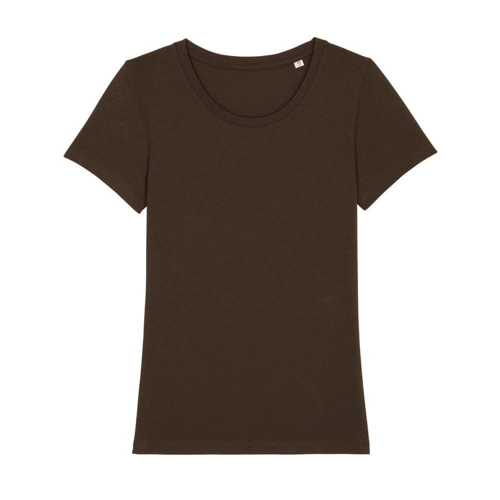 Koszulki T-Shirt - Damski T-shirt Stella Expresser - STTW032 - Deep chocolate - RAVEN - koszulki reklamowe z nadrukiem, odzież reklamowa i gastronomiczna