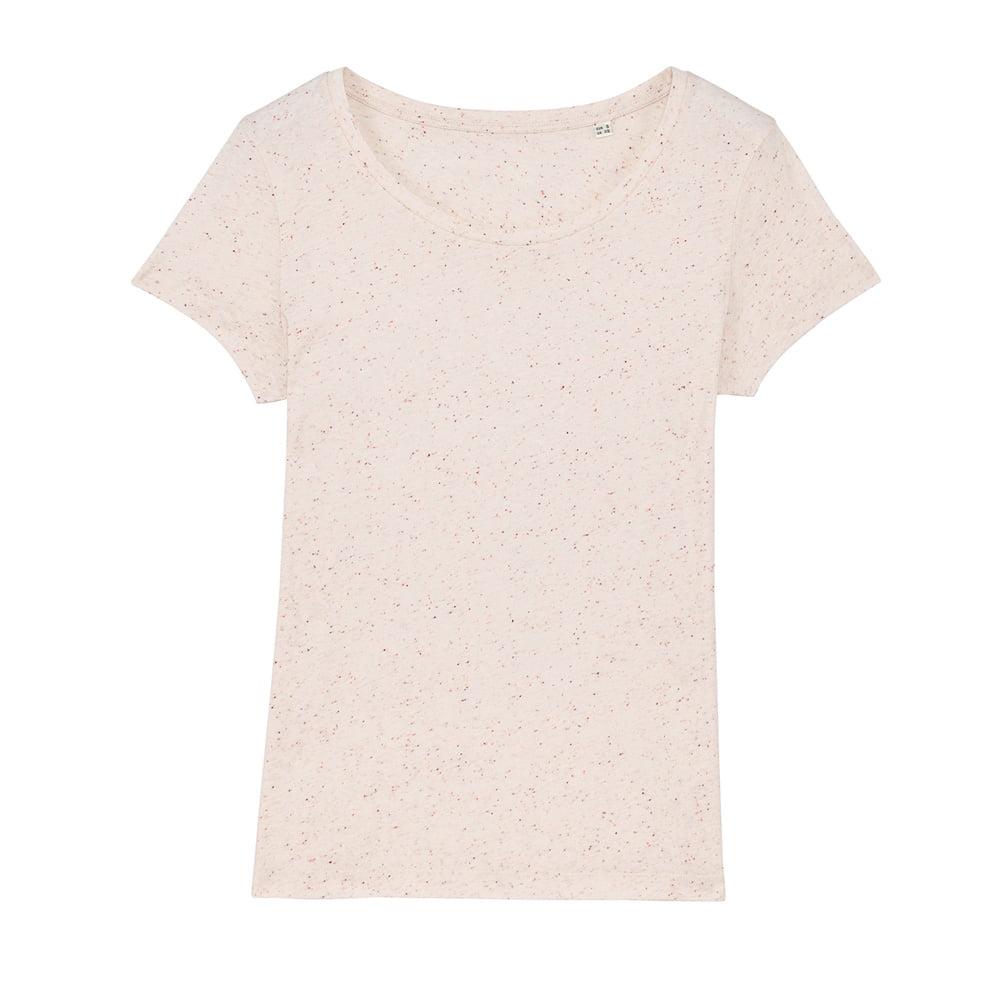 Koszulki T-Shirt - Damski T-shirt Stella Lover - STTW017 - Ecru Neppy Mandarine - RAVEN - koszulki reklamowe z nadrukiem, odzież reklamowa i gastronomiczna