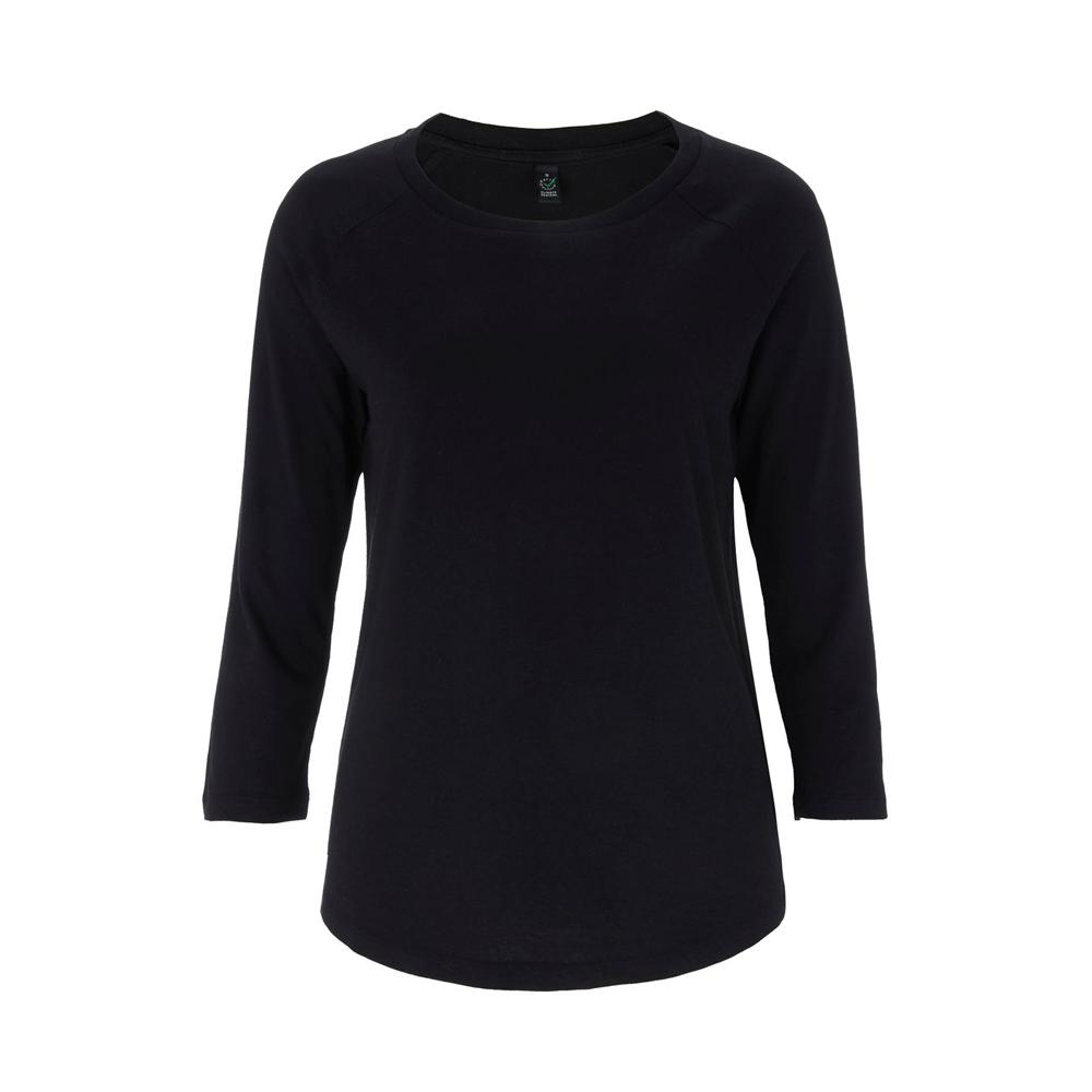 Koszulki T-Shirt - Damski Tencel Blend Raglan T-shirt EP47 - BL - Black - RAVEN - koszulki reklamowe z nadrukiem, odzież reklamowa i gastronomiczna
