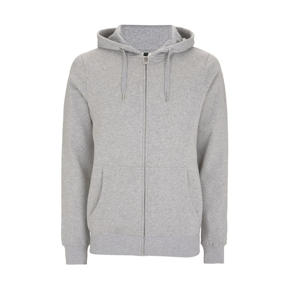 Bluzy - Bluza Unisex z Zamkiem Hoody EP51Z - MGY - Melange Grey - RAVEN - koszulki reklamowe z nadrukiem, odzież reklamowa i gastronomiczna